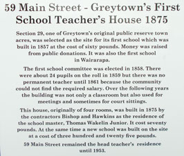 Greytown's Heritage Trail along Main Street