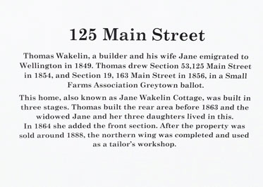 125 Main St, Greytown Heritage Trust Sign Trail